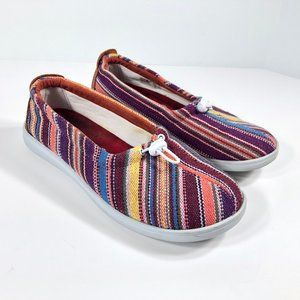 SAS Slip On Loafers Striped Casual Walking Shoes